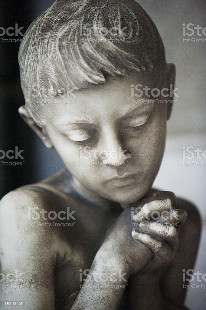 La preghiera stock photo
