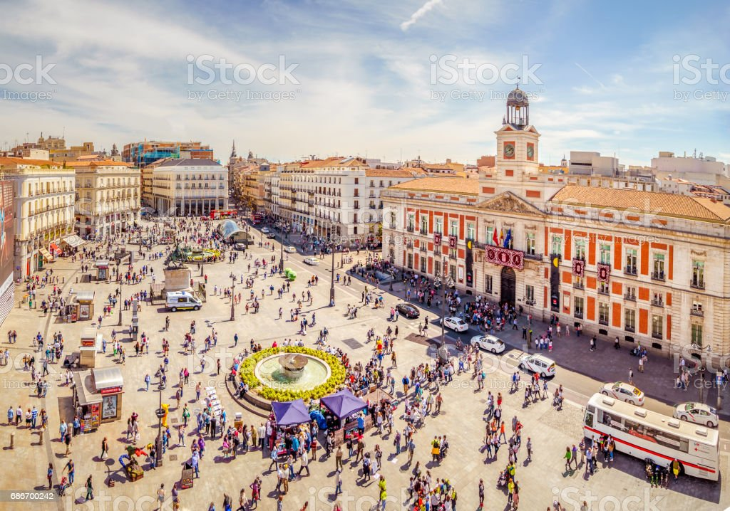 La Puerta del Sol from Above stock photo