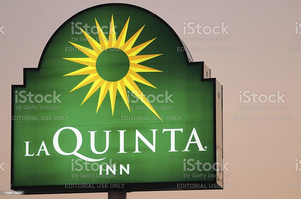 La Quinta Inn sign at dusk stock photo