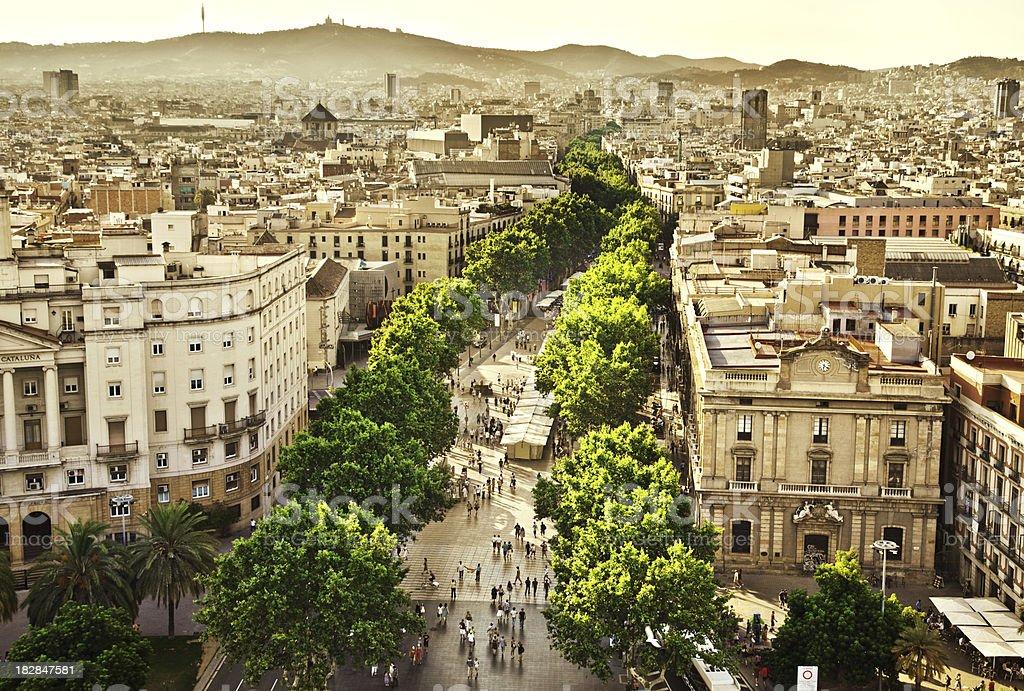 La Rambla Barcelona royalty-free stock photo