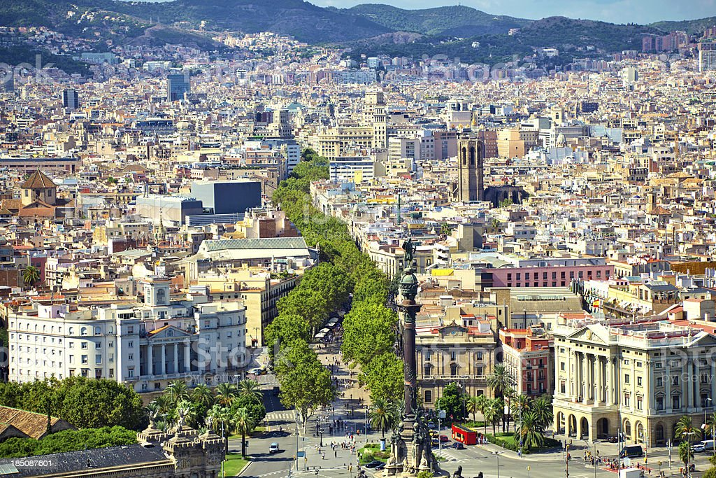 La Rambla de Barcelona - foto de stock