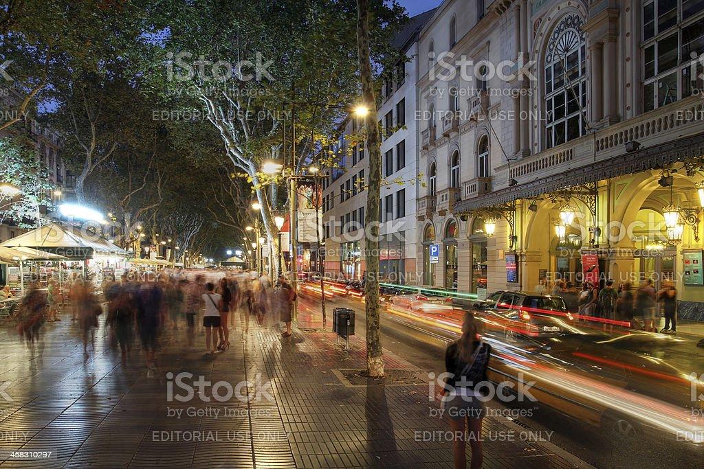 La Rambla, en Barcelona, España - Foto de stock de Adulación libre de derechos