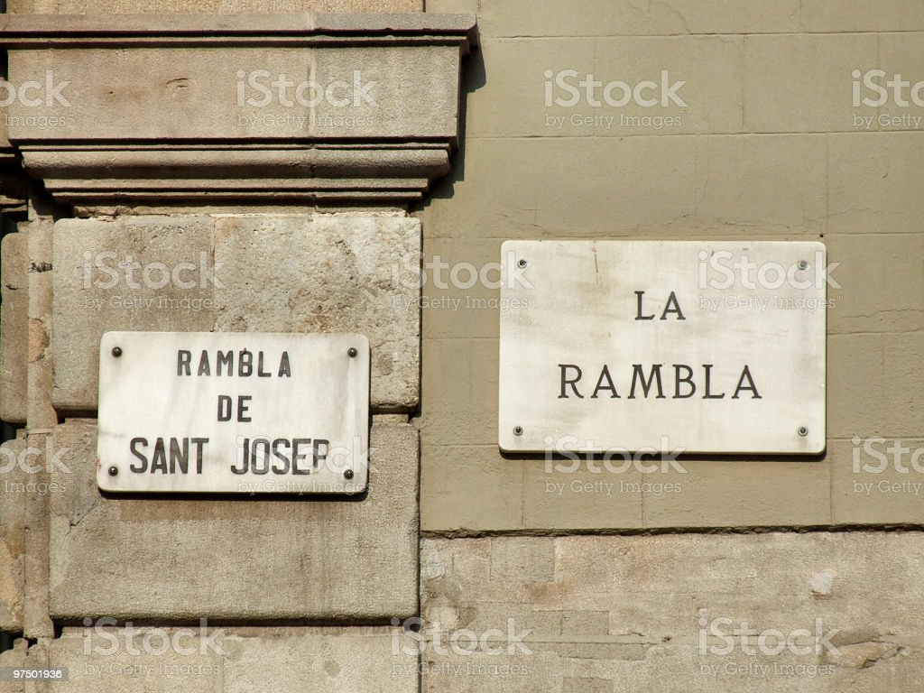 La Rambla in Barcelona royalty-free stock photo