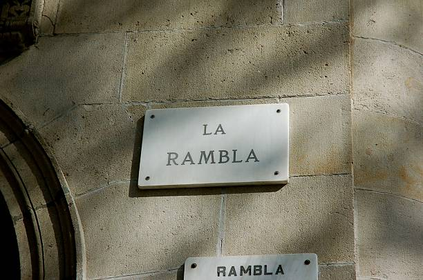 la rambla stock photo