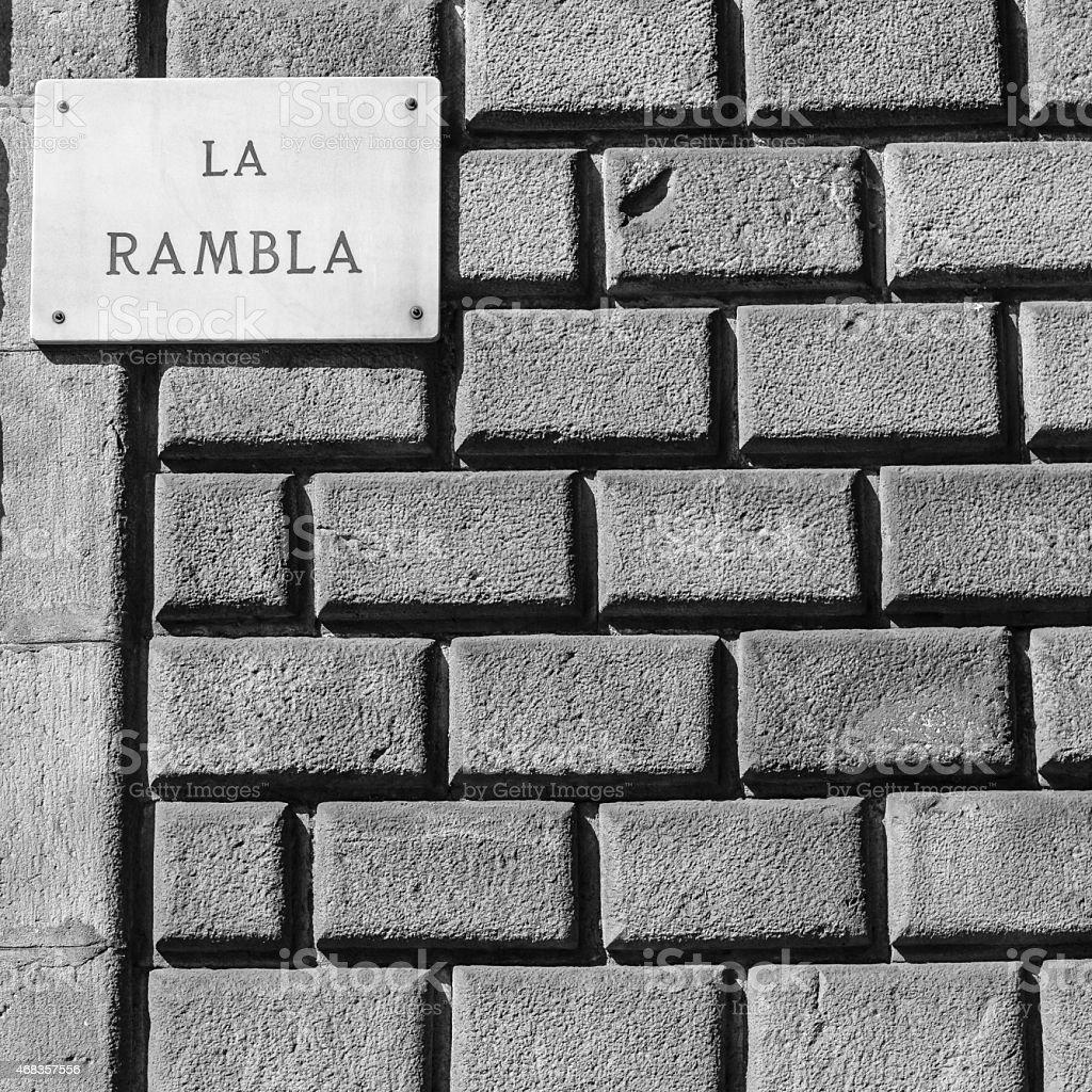 La Rambla royalty-free stock photo