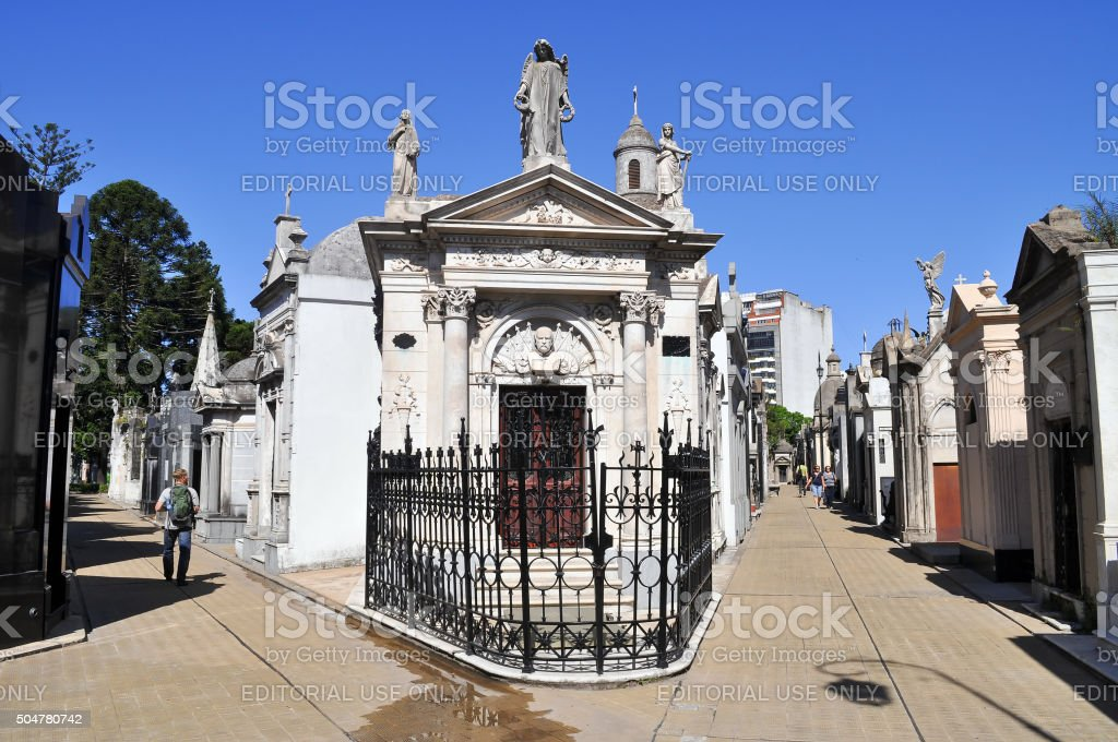 La Recoleta Cemetery stock photo