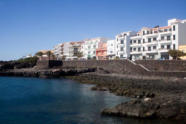 La Restinga village and pebbles beach, El Hierro, Canary islands, Spain. stock photo