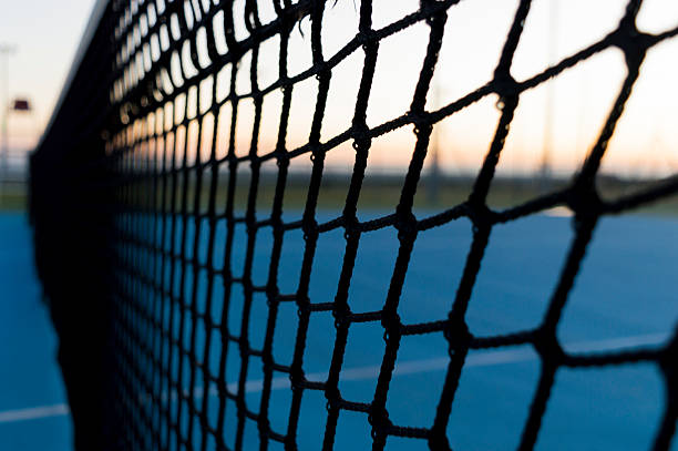 la rete da tennis stock photo