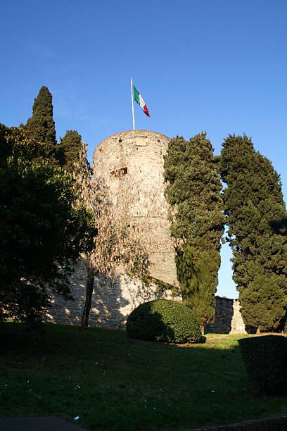 La rocca, Bergamo Alta, Italy stock photo