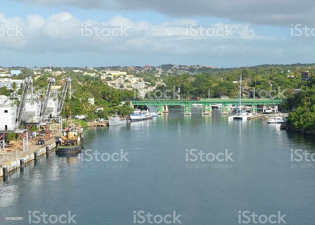 La Romana Port stock photo