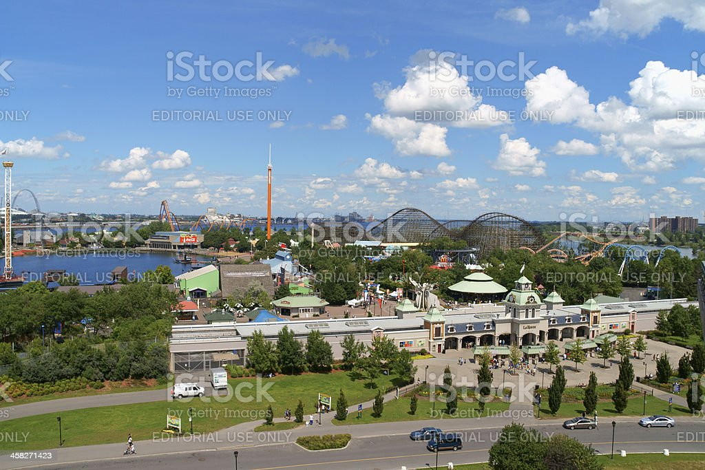 La Ronde Amusement Park in Montreal, Canada royalty-free stock photo