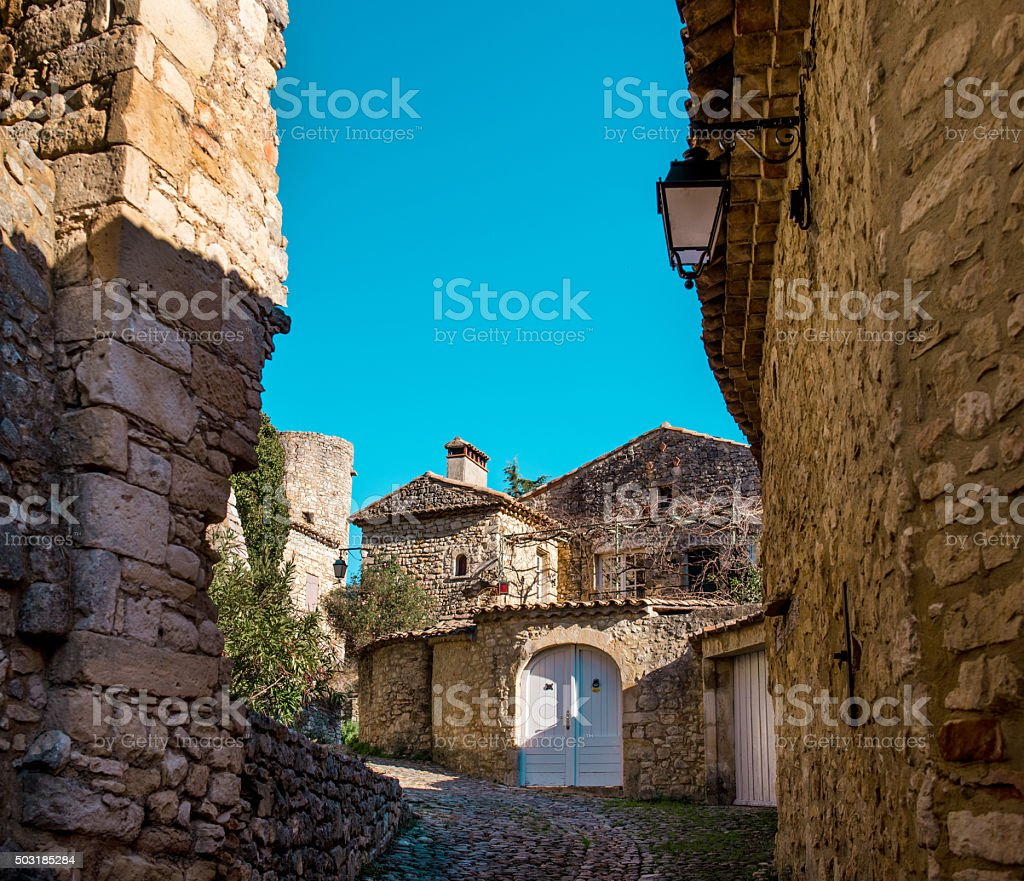 La Roque-sur-Ceze stock photo