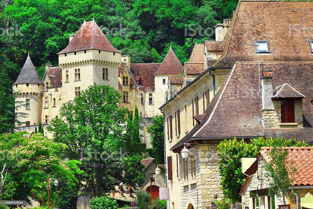 La Roque-Gageac town,France stock photo