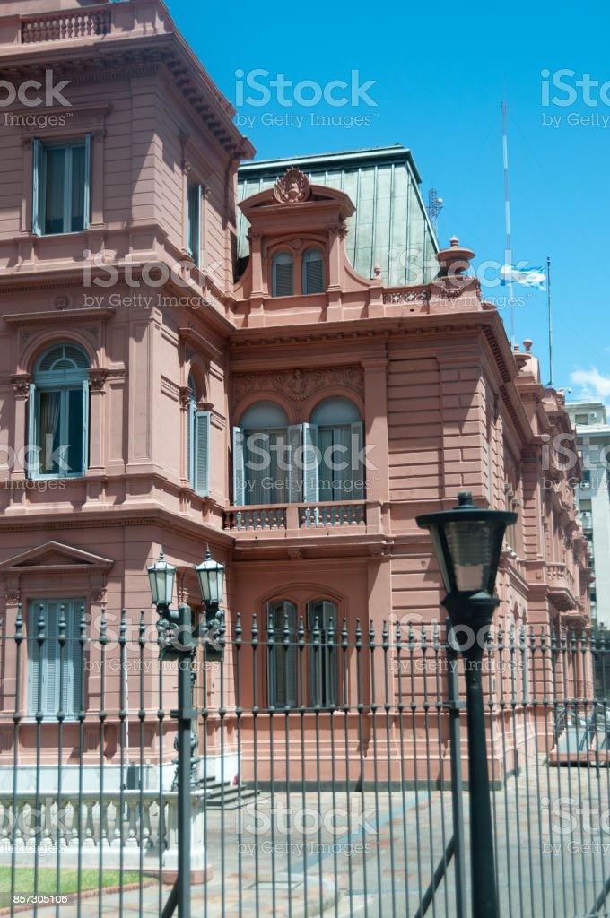 La Rosada. Casa de Gobierno. Argentina stock photo