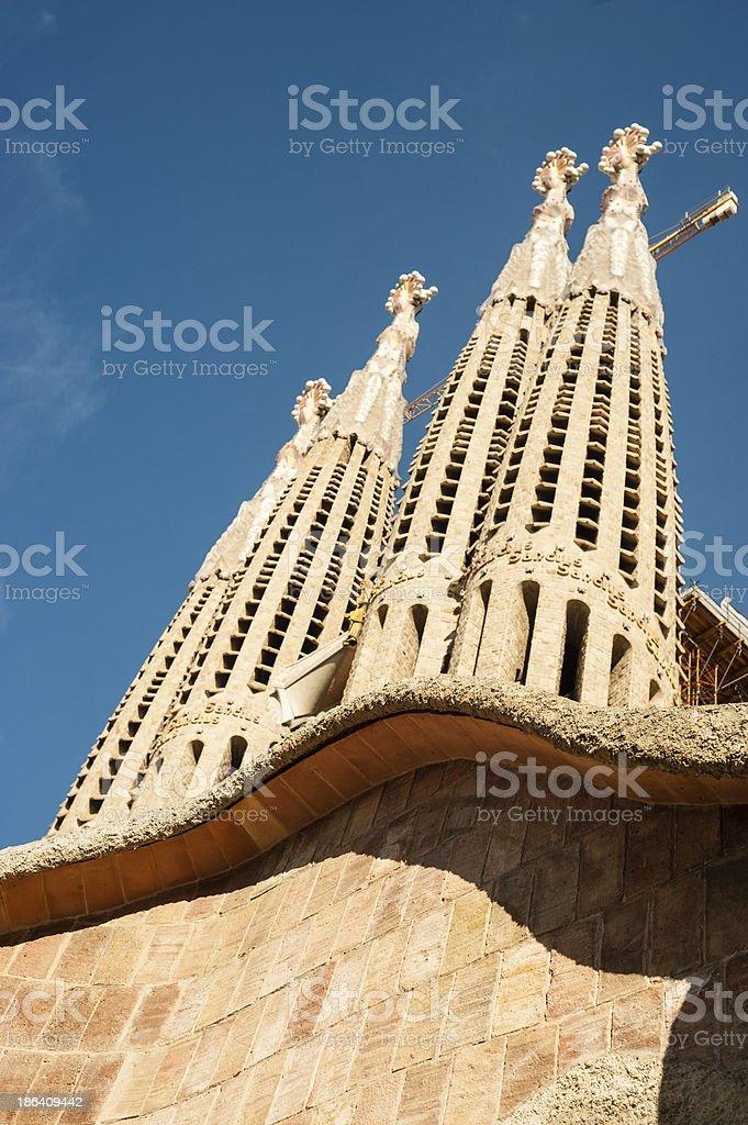 La Sagrada Familia, Barcelona, Architectural Detail royalty-free stock photo