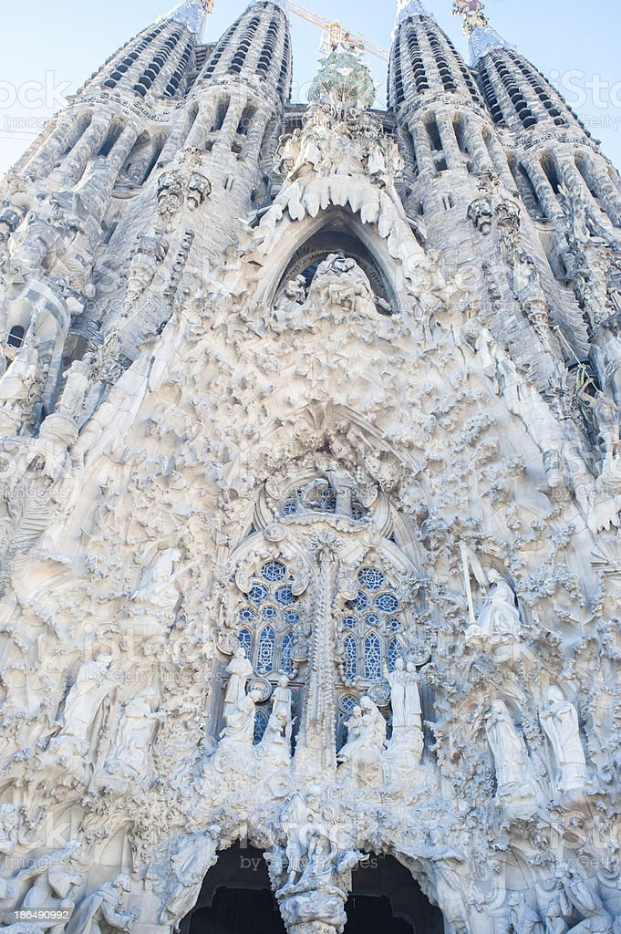 La Sagrada Familia, Barcelona, Architectural Detail royalty-free stock photo