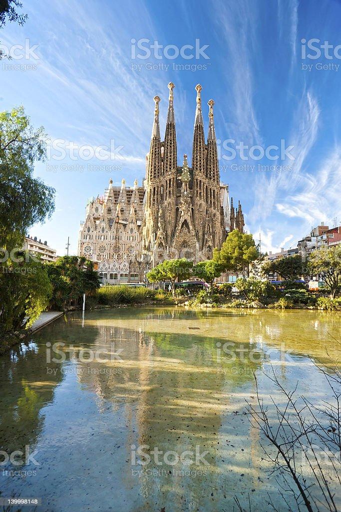 La Sagrada Familia, Barcelona. Spain. stock photo