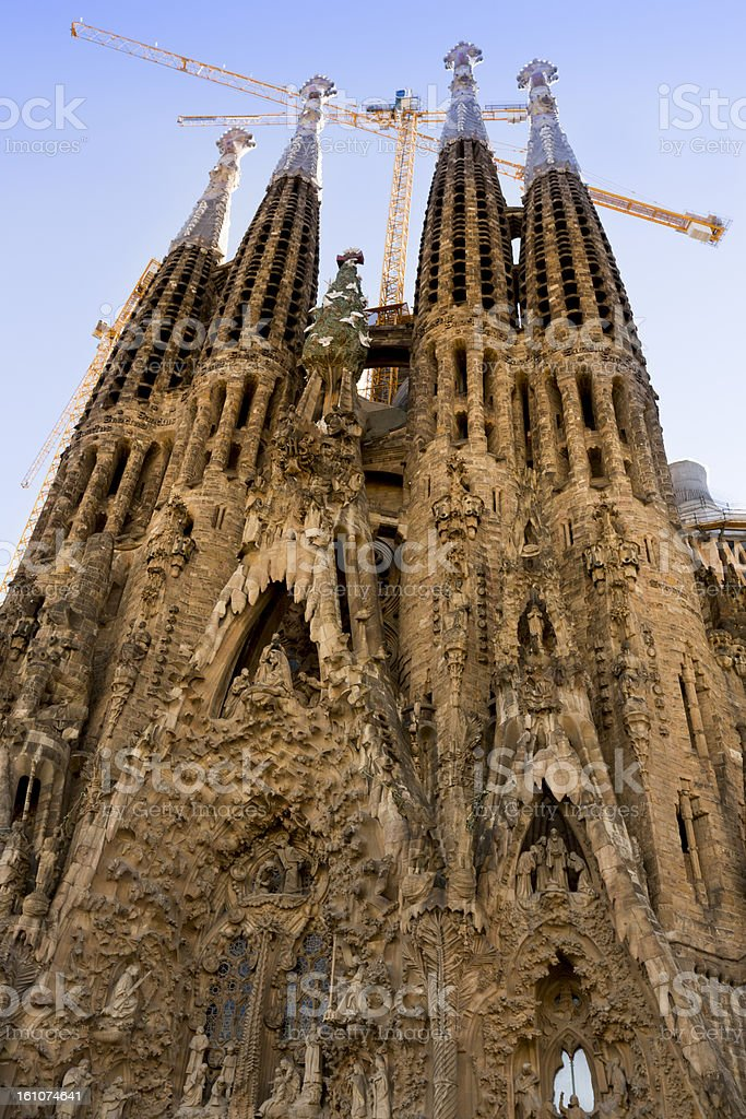 La Sagrada Familia in Barcelona royalty-free stock photo