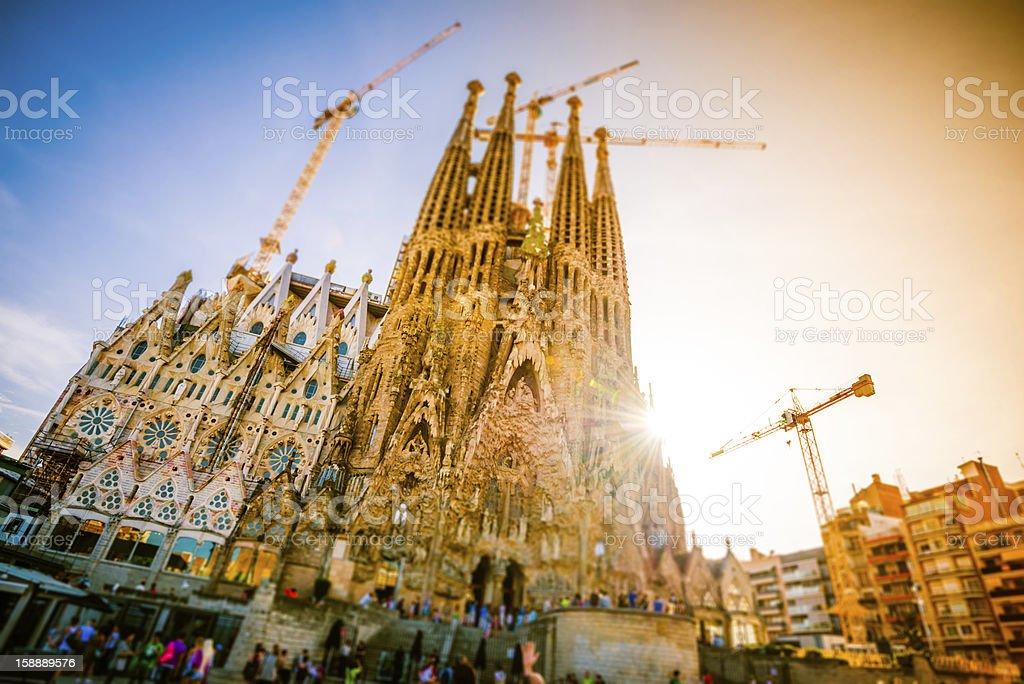 La Sagrada Familia stock photo