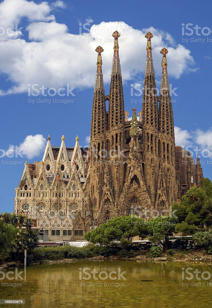 La Sagrada Familia royalty-free stock photo