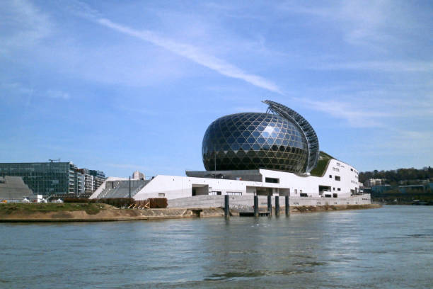 La Seine Musicale in Boulogne-Billancourt stock photo