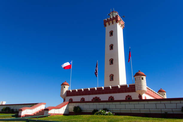 La Serena Lighthouse, Chile stock photo