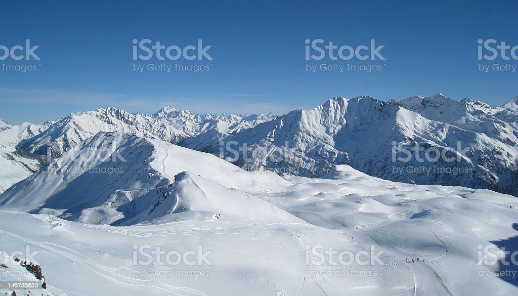 La Thuile ski resort, Italy royalty-free stock photo