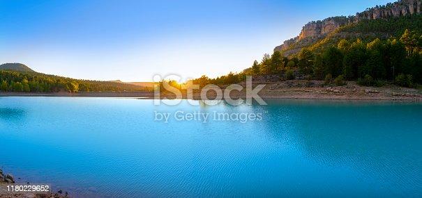 La Toba reservoir of river Jucar in Cuenca Serrania of Spain
