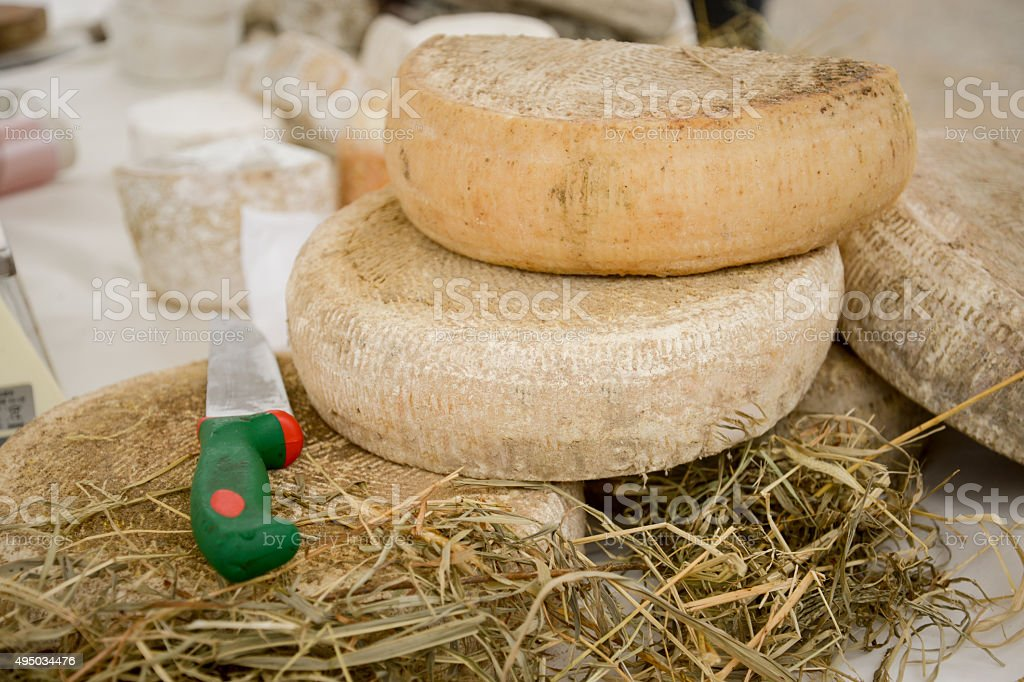 La Toma: orginal cheese from piedmont stock photo