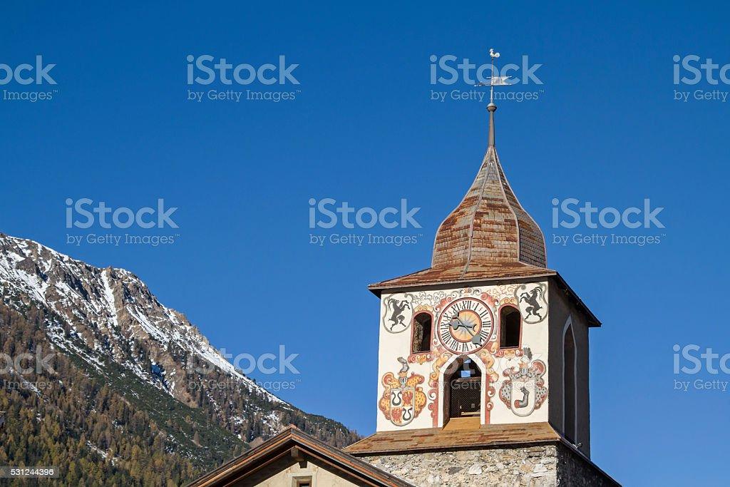 La Tuor in Bergüns stock photo