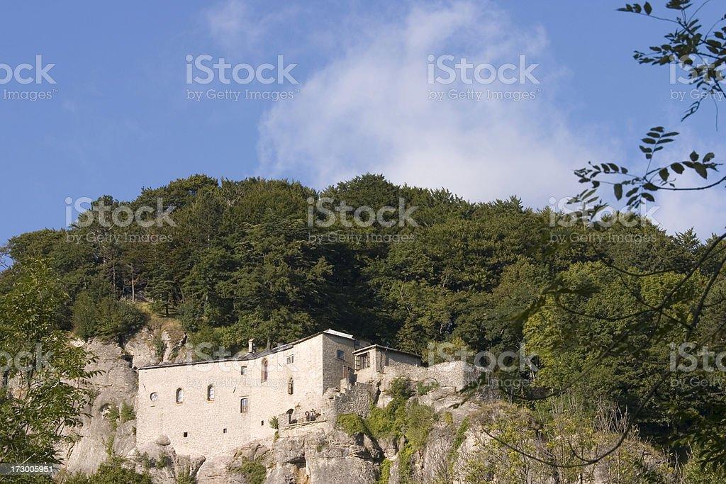 La Verna Monastery Tuscany stock photo