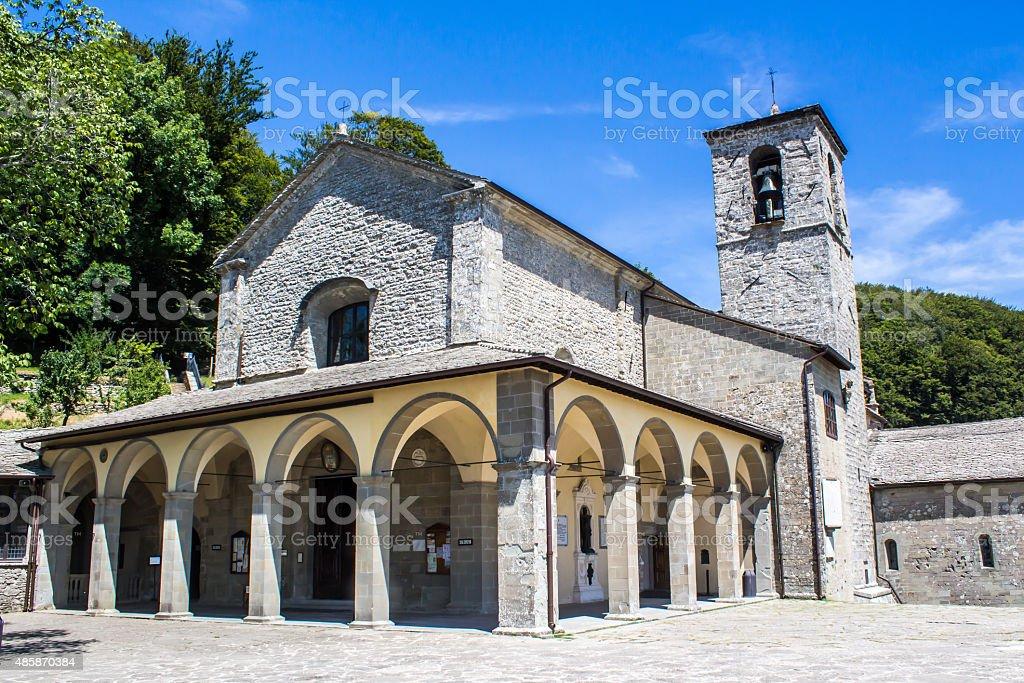 la Verna,.Franciscan sanctuary in Tuscany, Italy stock photo