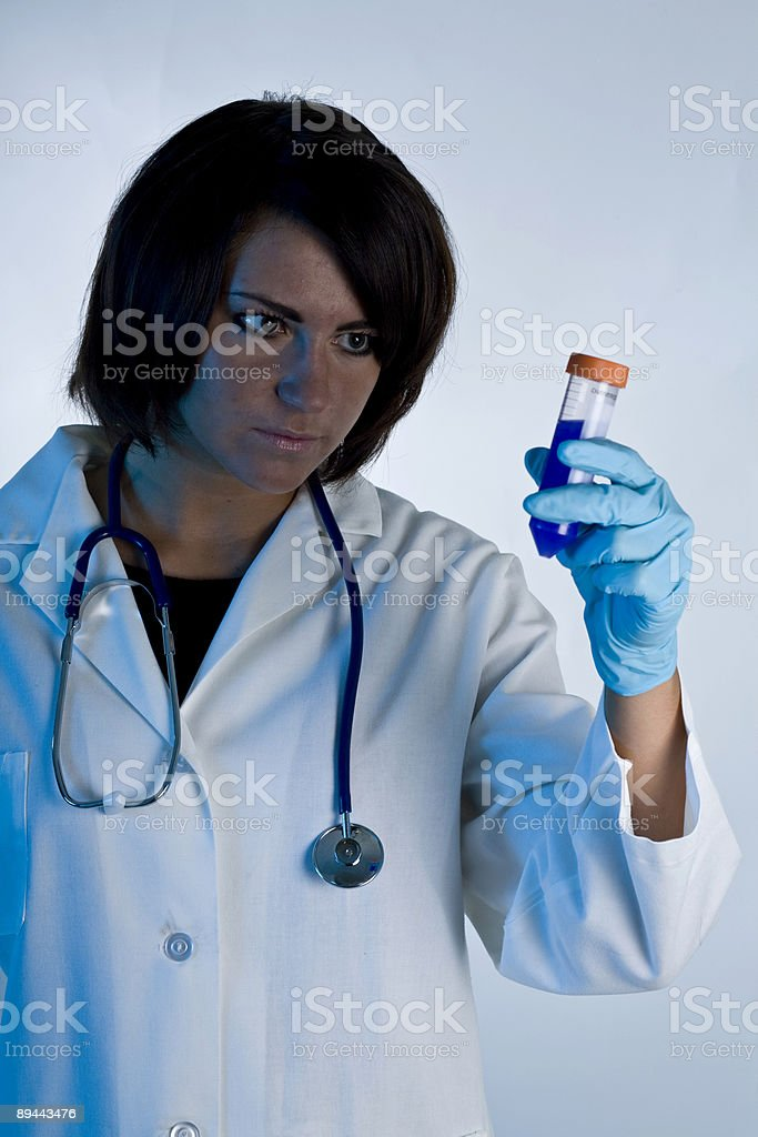 Lab Coat Model 29 royalty-free stock photo