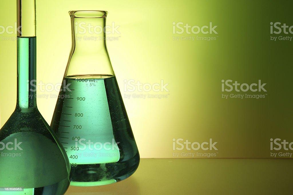 Lab equipment flask royalty-free stock photo