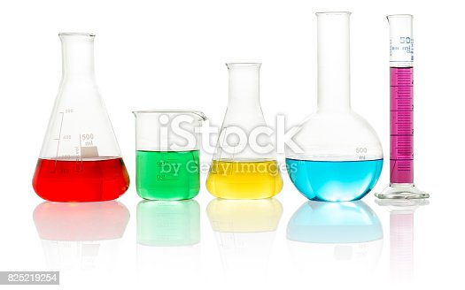 istock lab glassware filled with colorful liquid 825219254