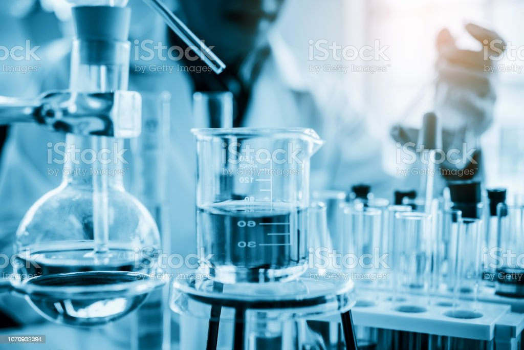 Lab Glassware In Chemical Laboratory For Research And Development Stock  Photo - Download Image Now - iStock