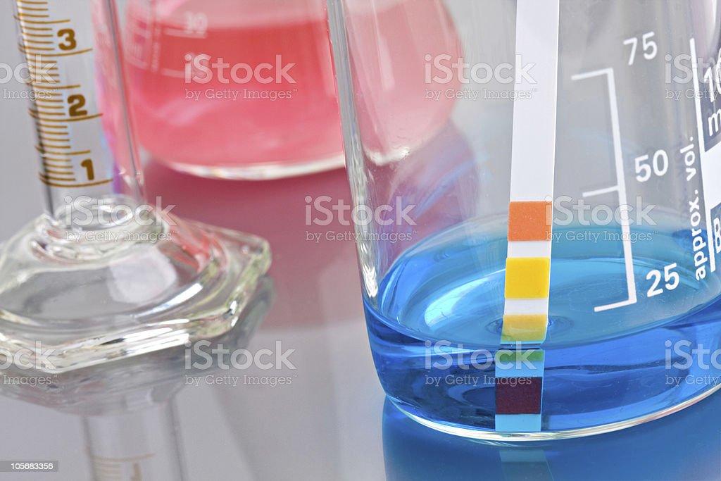 Lab glassware stock photo