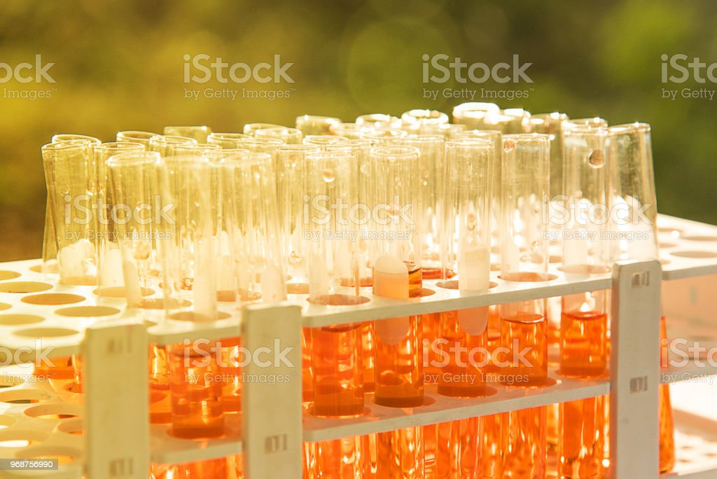 Lab science research stock photo