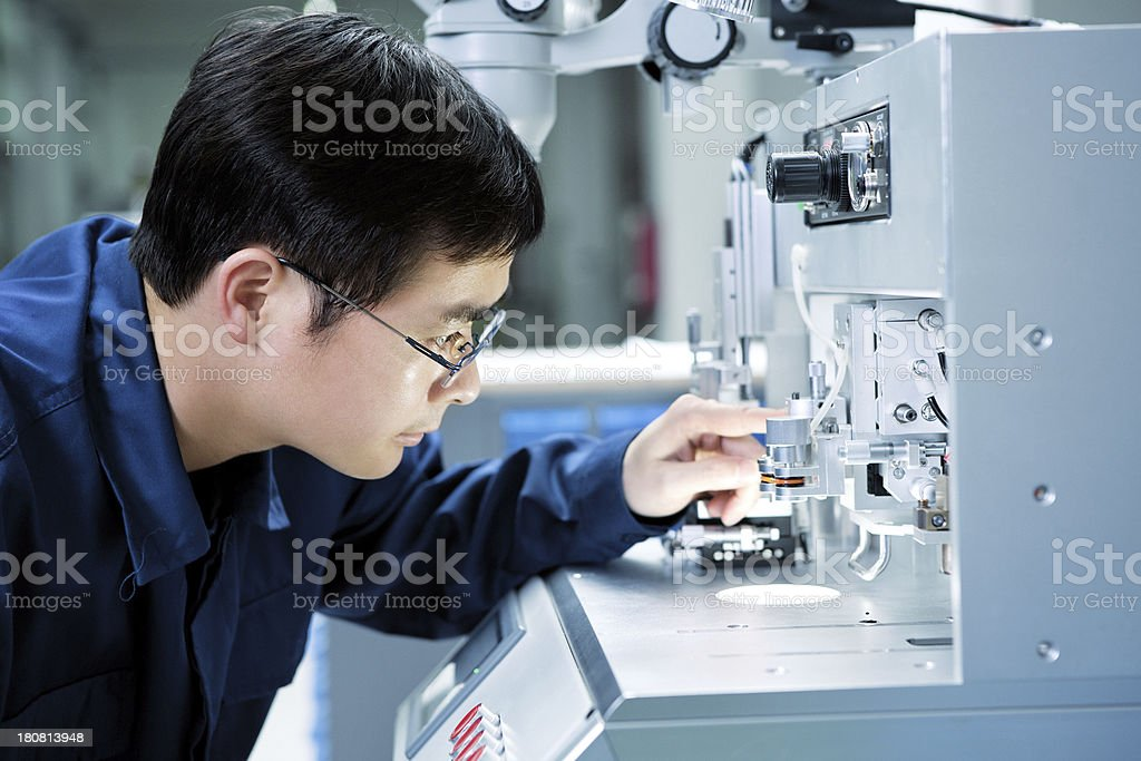 Lab Technician stock photo