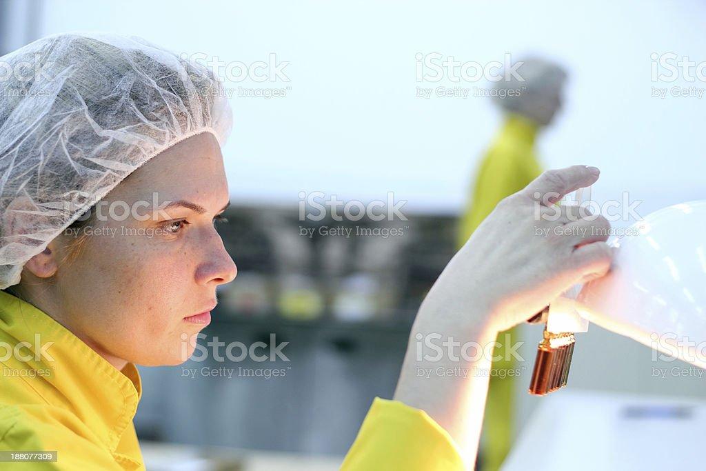 Lab Technician - Quality Control stock photo