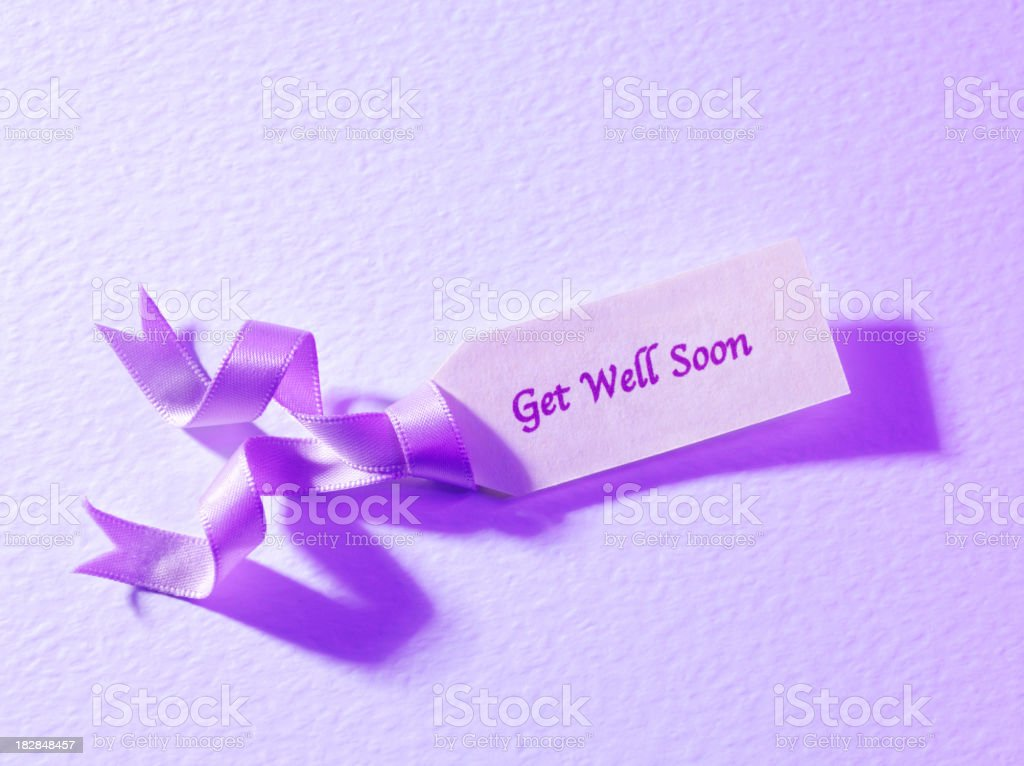 Label for Get Well Soon royalty-free stock photo