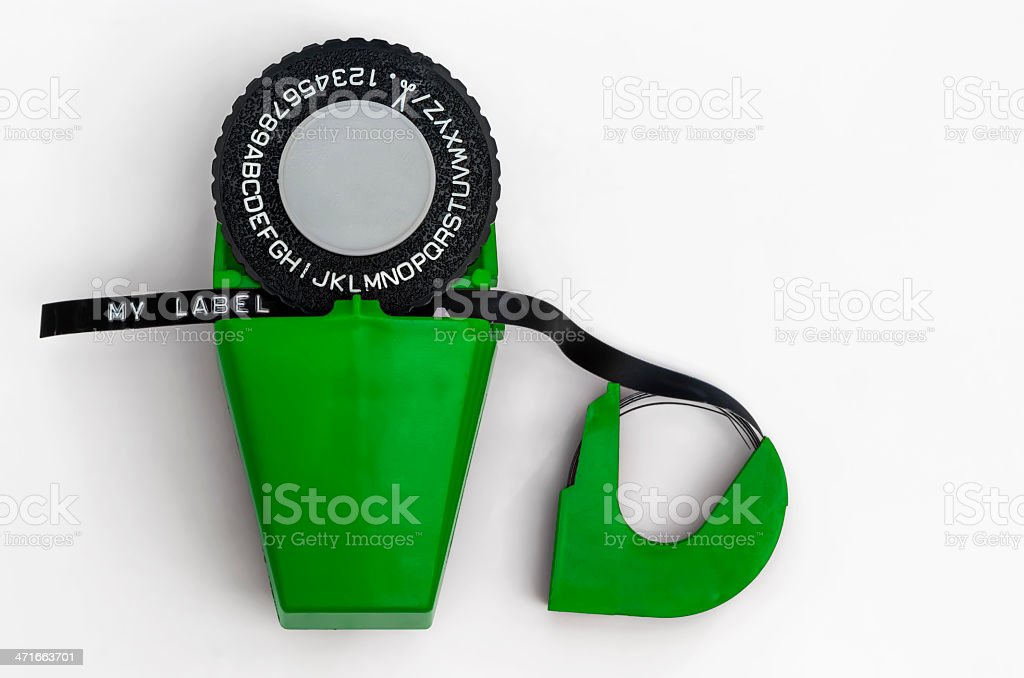 Label Maker 04-Green stock photo