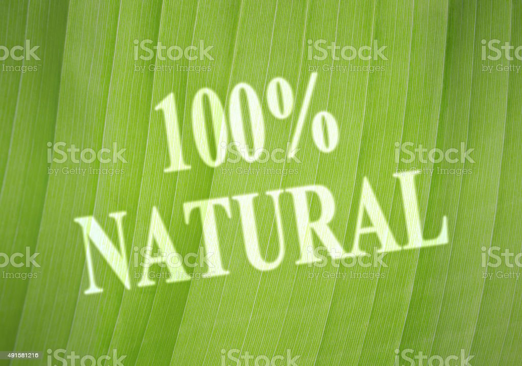 Label Natural stock photo