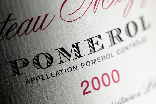 Label of a Bordeaux wine bottle