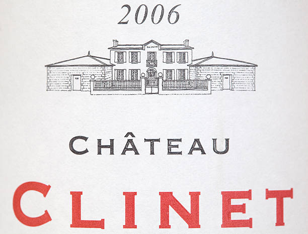 Label of Chateau Clinet 2006 wine stock photo