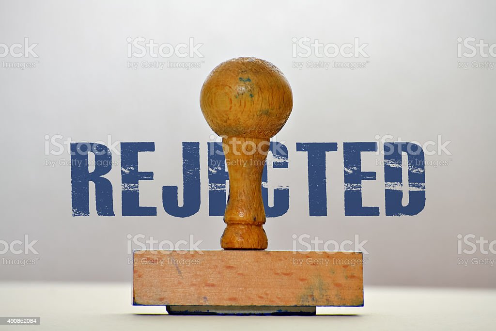 Label Rejected stock photo