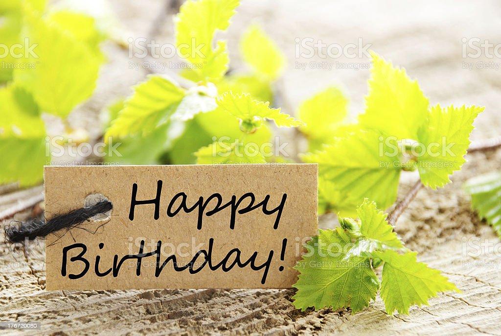 label with happy birthday royalty-free stock photo
