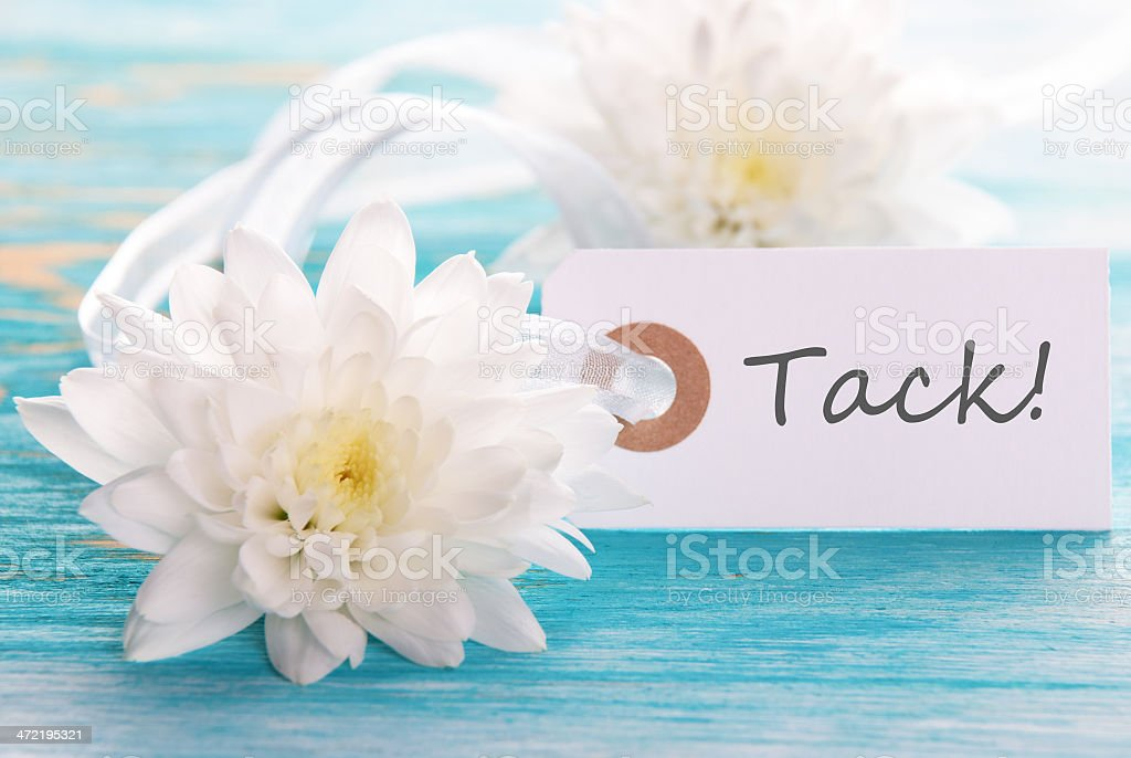 Label with Tack stock photo