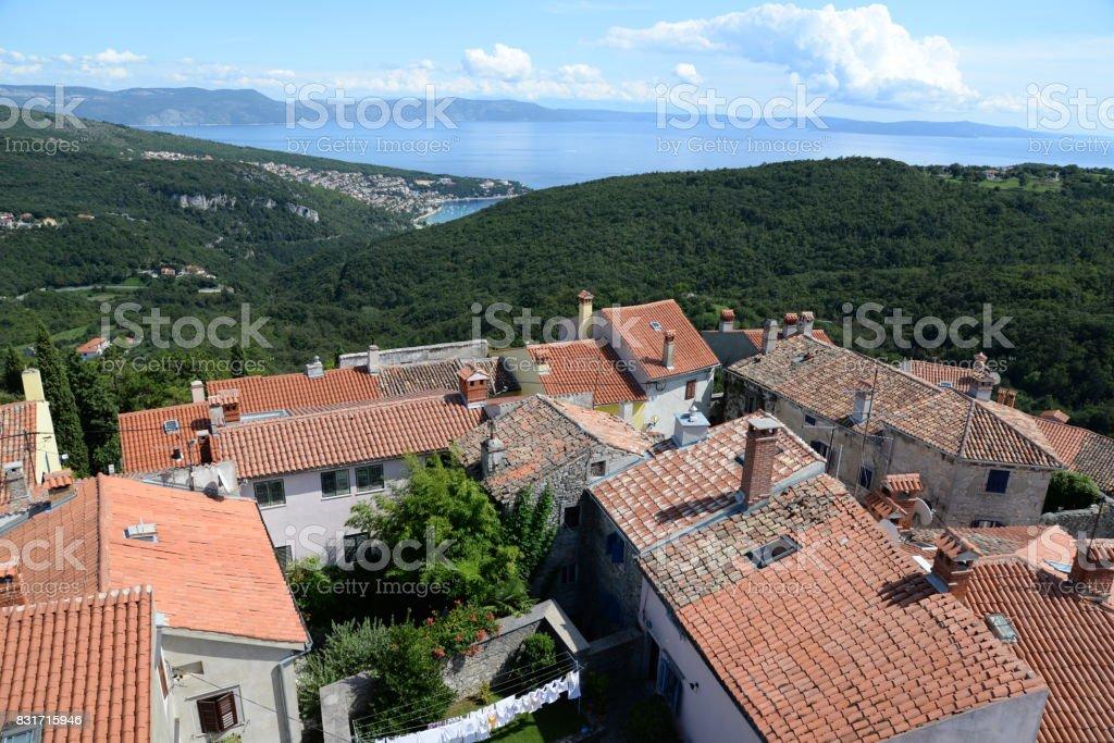 Labin, Croatia stock photo
