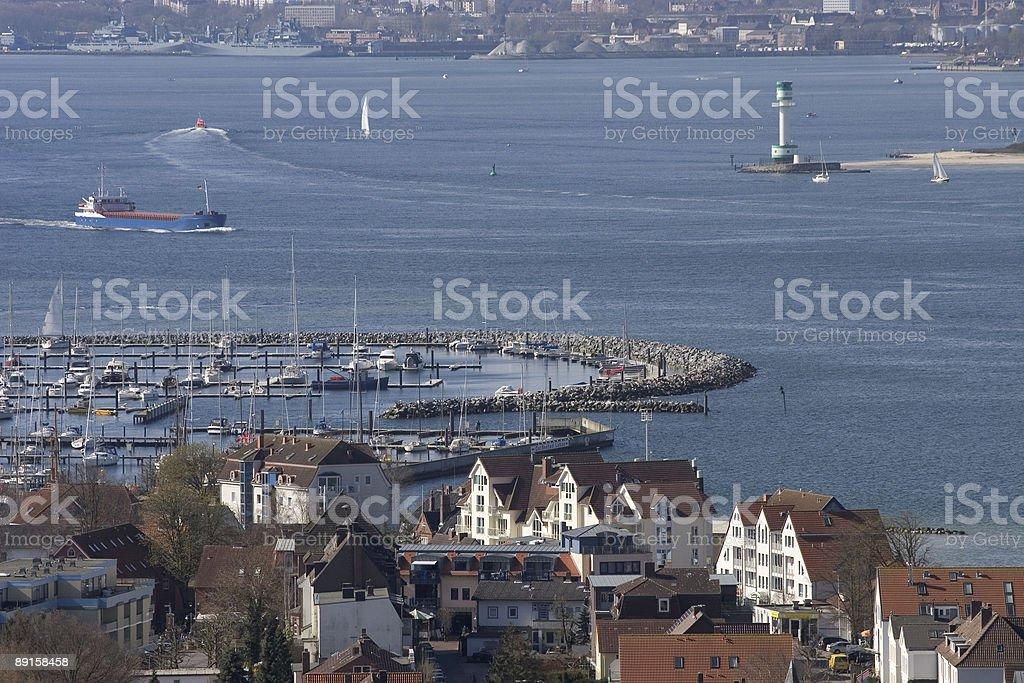 Laboe Marina stock photo